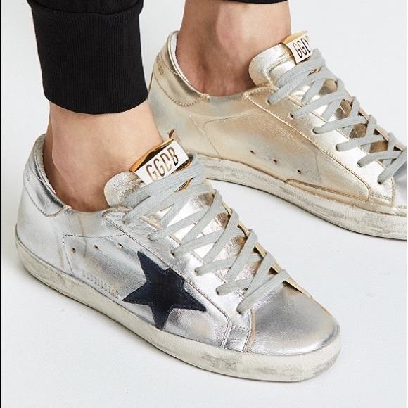 89a8be83cb Golden Goose Silver & Gold Superstar Sneaker